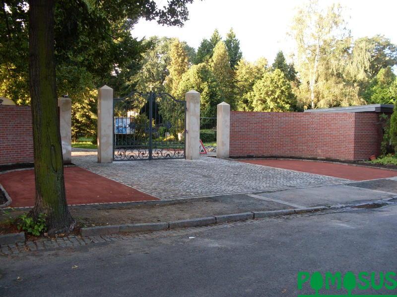 pomosus garten und landschaftsbau friedhofsmauer stephanusfriedhof. Black Bedroom Furniture Sets. Home Design Ideas