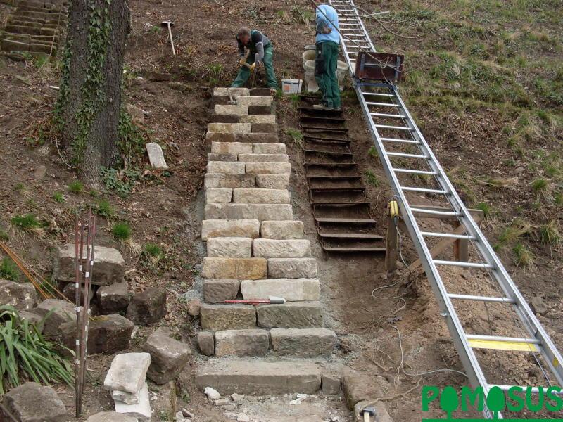 Pomosus Garten Und Landschaftsbau Gt Sandsteintreppe In