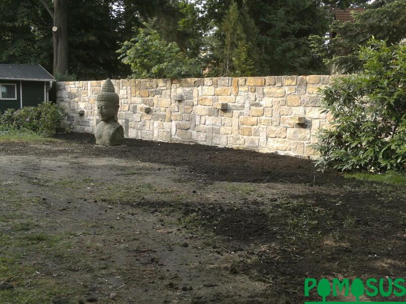 Pomosus garten und landschaftsbau sichtschutzmauer for Sichtschutzwand garten